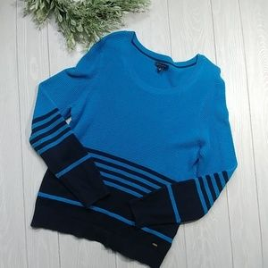Tommy Hilifiger nautical stripe navy/blue sweater